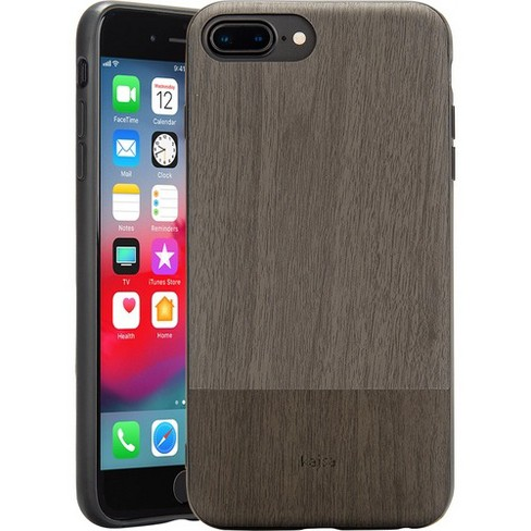 Rocstor Bare Kajsa iPhone 7 Plus/iPhone 8 Plus Case - For Apple iPhone 6 Plus, iPhone 6s Plus, iPhone 7 Plus, iPhone 8 Plus Smartphone - Wooden - Gray - image 1 of 4