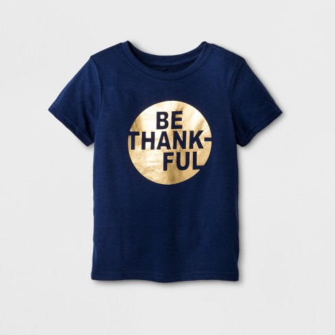 Toddler Be Thankful Thanksgiving Family T-Shirt - Cat & Jack™ Blue - image 1 of 2