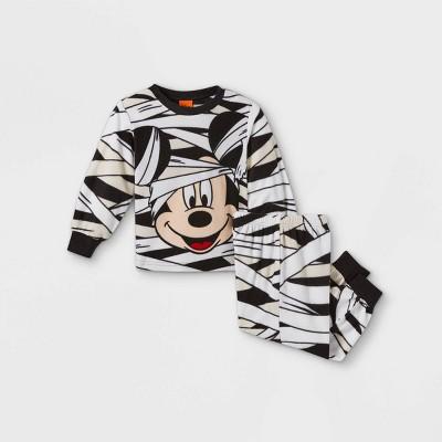 Toddler Boys' Mickey Mouse & Friends Mummy 2pc Matching Family Pajama Set - White 3T