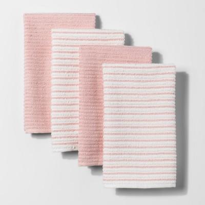 Casual Pink Stripe Kitchen Towel - Room Essentials™