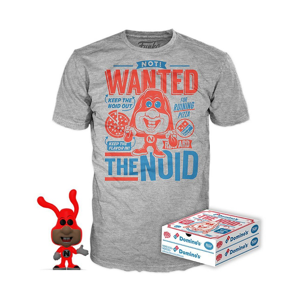Image of Funko POP! Ad Icons: Domino's - The Noid (Glow) POP! & Tee - L (Target Exclusive), Size: Large