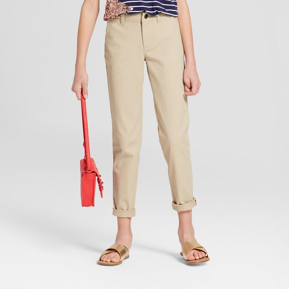 Plus Size Girls' Twill Pants - Cat & Jack Brown 10 Plus