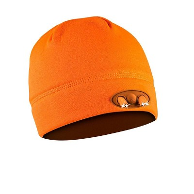 POWERCAP Adult 4 LED Compression Fleece Cap - Blaze Orange