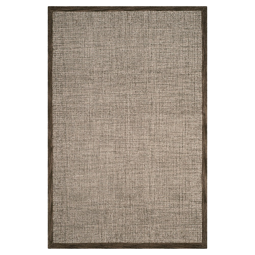 Brown/Ivory Abstract Tufted Area Rug - (6'X9') - Safavieh