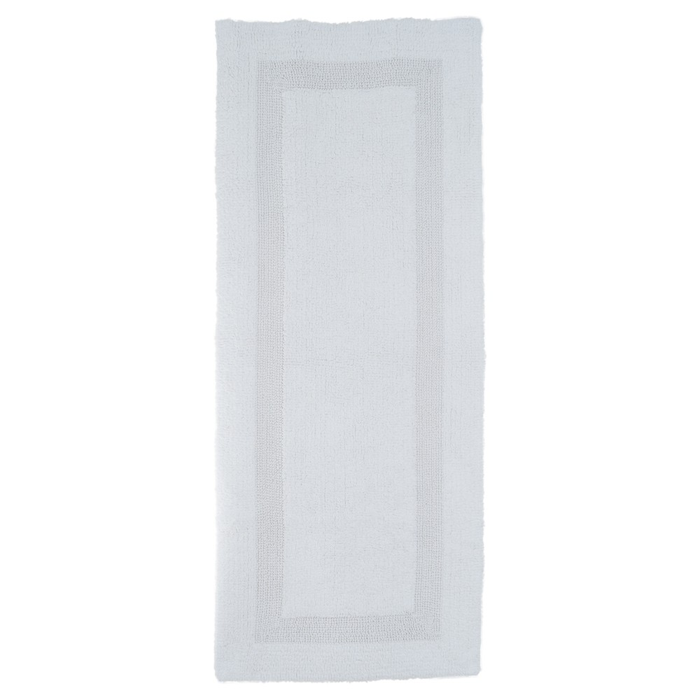 Solid Reversible Long Bath Rug White - Yorkshire Home