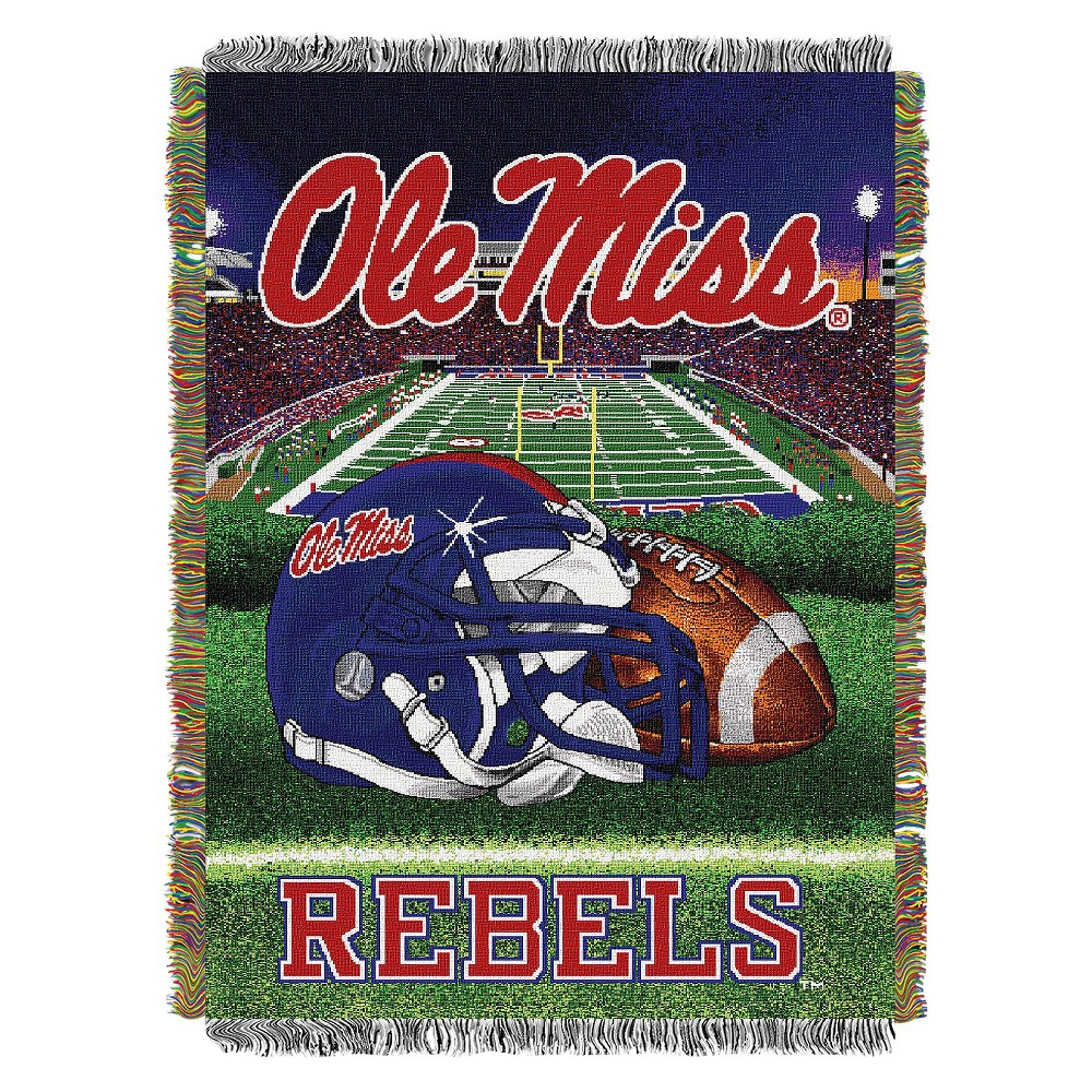 Ole Miss Rebels Home Field Advantage College Throw Blanket