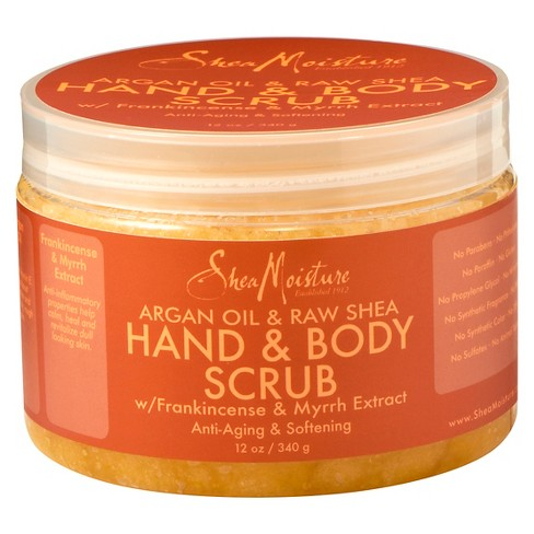SheaMoisture Argan Oil & Raw Shea Hand & Body Scrub - 12 oz - image 1 of 2