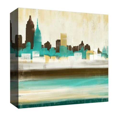 "Re-Imagined City Decorative Canvas Wall Art 16""x16"" - PTM Images - image 1 of 1"