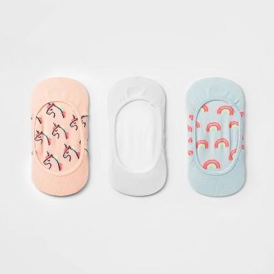 Girls' 3pk Unicorn Liner Socks - Cat & Jack™