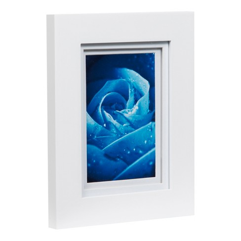 Single Image 5X7 Wide Double Mat White 4X6 Frame - Gallery Solutions ...