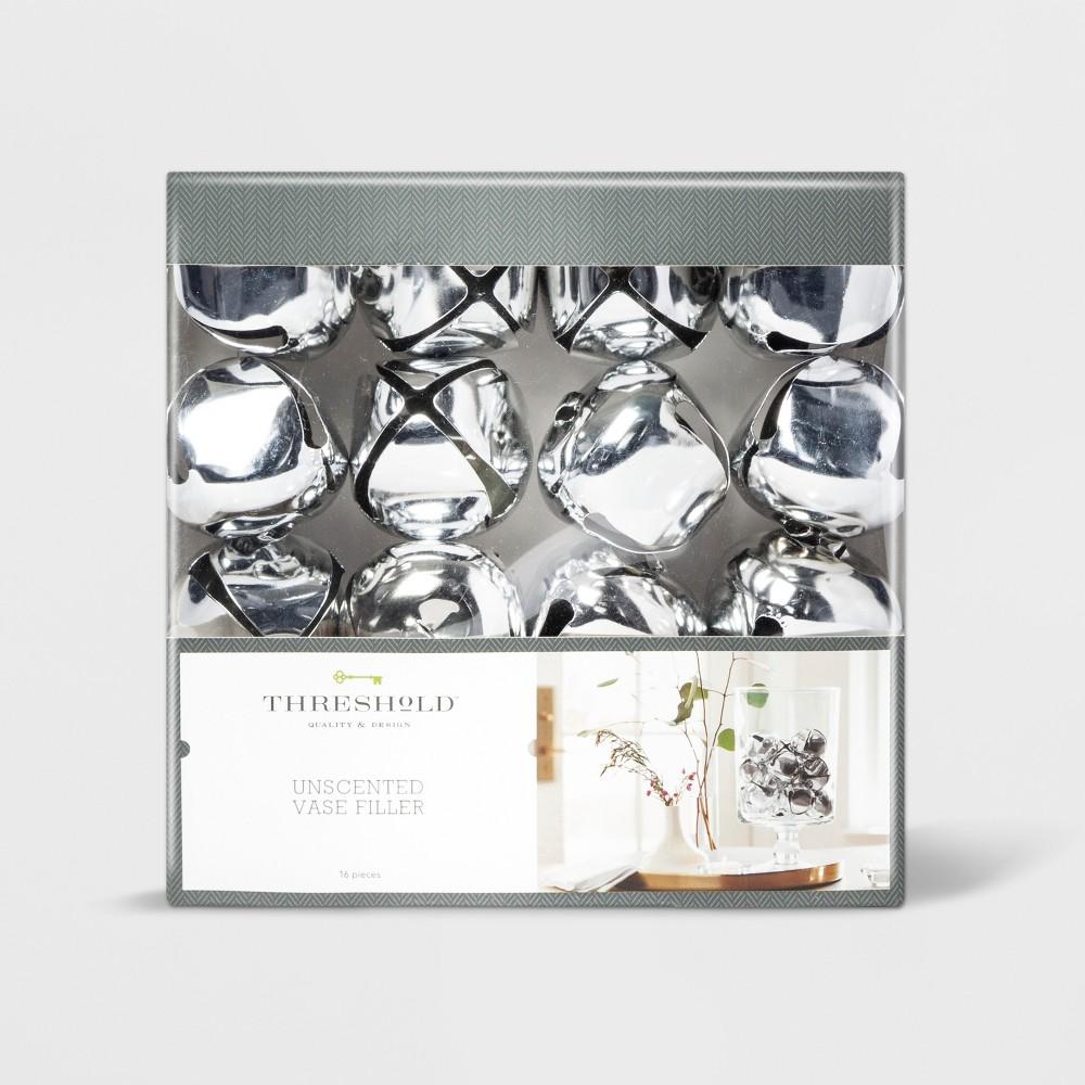 """Image of """"2"""""""" 16pc Jingle Bells Vase Filler Silver - Threshold"""""""