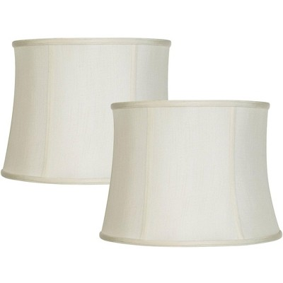 Imperial Shade Set of 2 Creme White Lamp Shades 14x16x12 (Spider)