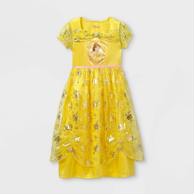 Girls' Disney Princess Belle Nightgown - Yellow