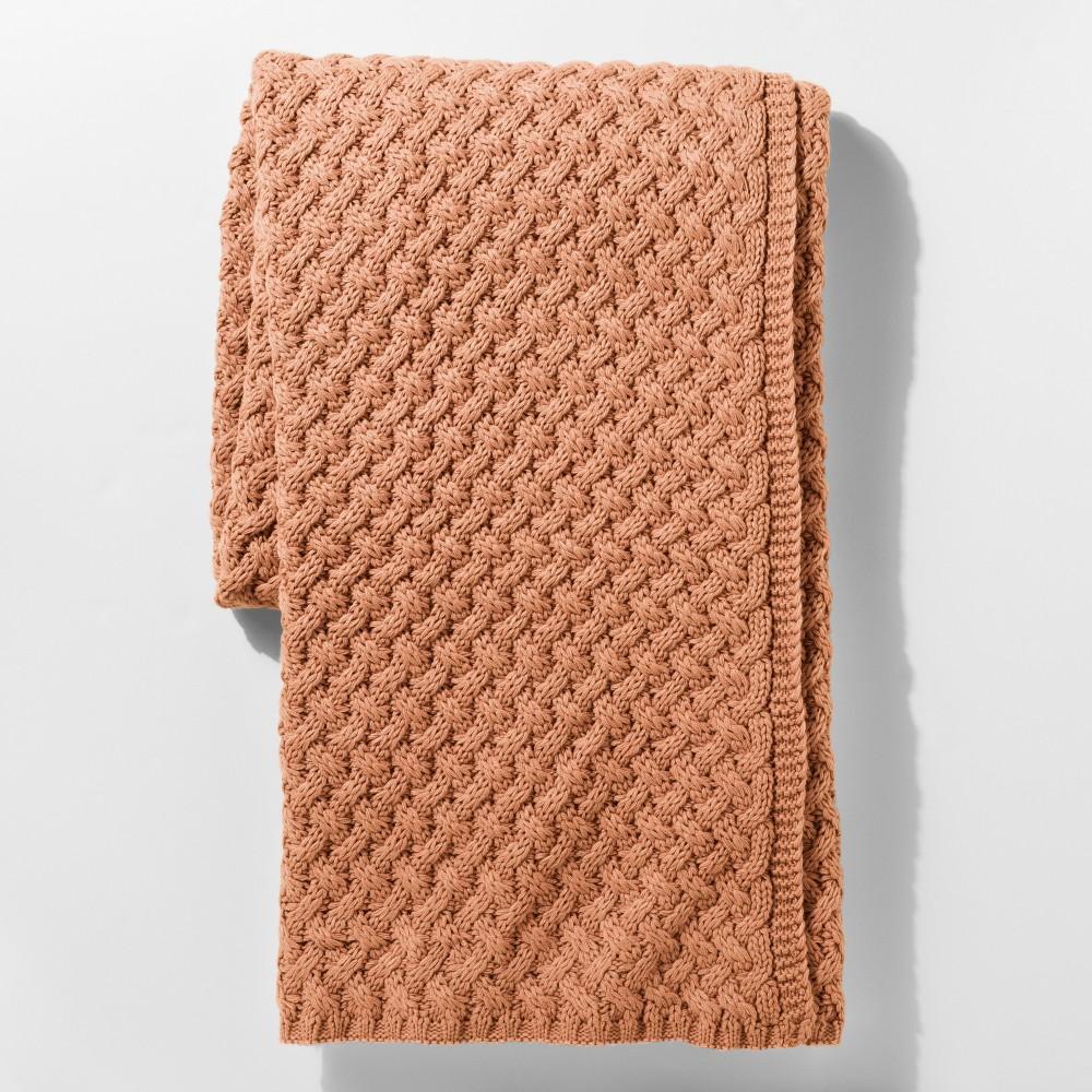 Red Sweater Knit Throw Blanket - Threshold, Orange