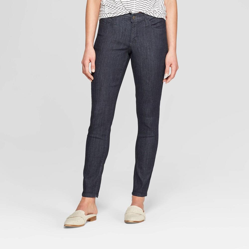 Women's Mid-Rise Skinny Jeans - Universal Thread Rinse 18, Blue