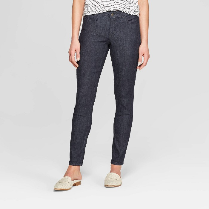 Women's Mid-Rise Skinny Jeans - Universal Thread™ Rinse - image 1 of 3