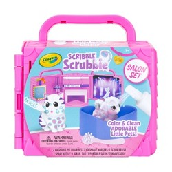 Crayola 8pc Scribble Scrubbie Pets, Beauty Salon Playset with Toy Pets