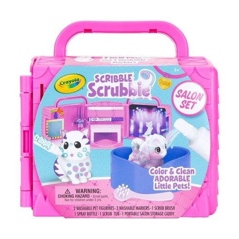 Crayola 8pc Scribble Scrubbie Pets Beauty Salon Playset with Pets - image 1 of 4