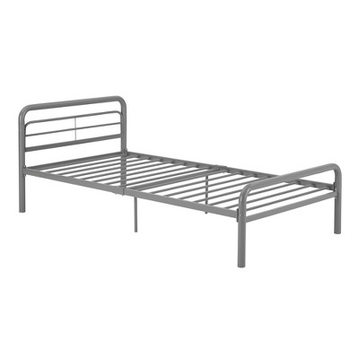 Twin Kids' Basic Metal Bed Silver - Dorel Home Products