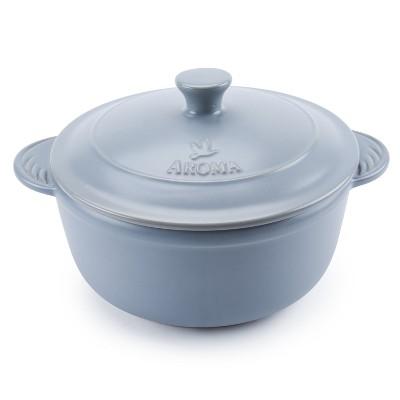 Doveware 4qt Ceramic Dutch Oven Gray