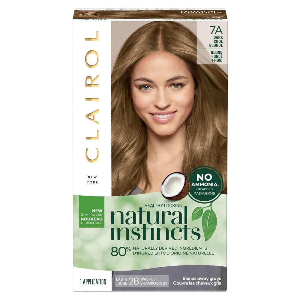 Image of Clairol Natural Instincts Non-Permanent Hair Color - 7A Dark Cool Blonde, Sandlewood - 1 Kit, 7A-Dark Cool Yellow