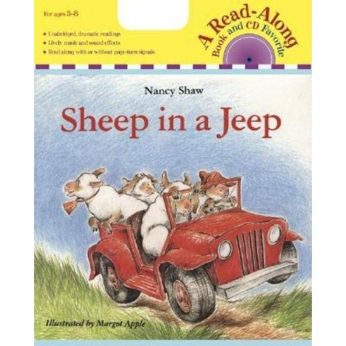 Sheep in a Jeep Book & CD - (Read Along Book & CD) by  Nancy E Shaw (Mixed media product) - image 1 of 1