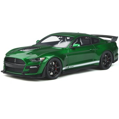2020 Ford Mustang Shelby GT500 Candy Apple Green Metallic with White Stripes 1/18 Model Car by GT Spirit