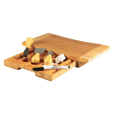 Legacy Concavo Cutting Board and Cheese Tools Set