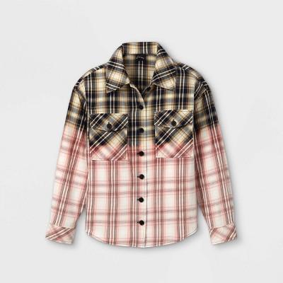 Girls' Flannel Shirt Jacket - art class™ Pink