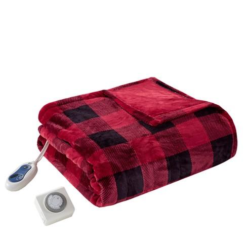 "60"" x 70"" Oversized Electric Plush Throw Blanket - image 1 of 4"