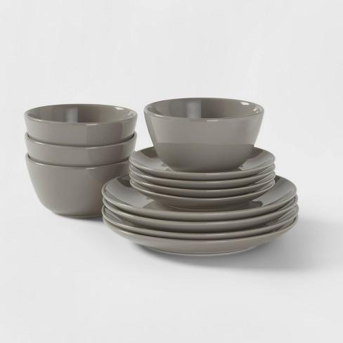 12pc Stoneware Avesta Dinnerware Set Gray - Project 62™ - image 1 of 4