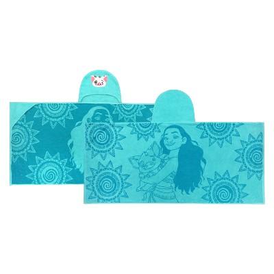 Disney Moana Hooded Bath Towel Blue