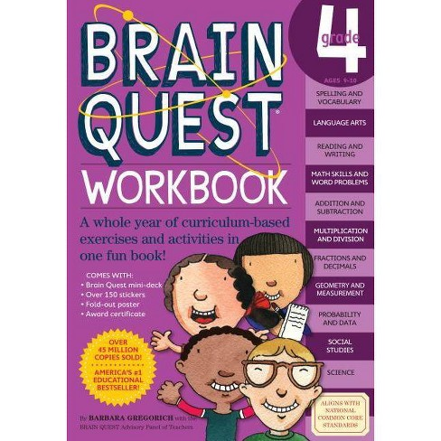 Brain Quest Grade 4 (Paperback) by Barbara Gregorvich - image 1 of 1