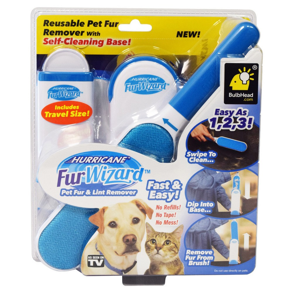 As Seen on TV Hurricane Fur Wizard Lint Brushes Blue