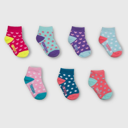Toddler Girls' 7pk Days of the Week Low Cut Socks - Cat & Jack™ Colors Vary - image 1 of 2