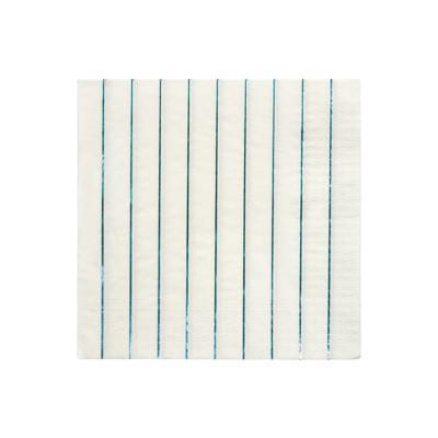Meri Meri Blue Holographic Stripe Large Napkins