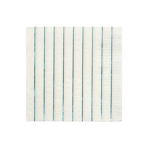 Meri Meri Blue Holographic Stripe Large Napkins - image 1 of 2