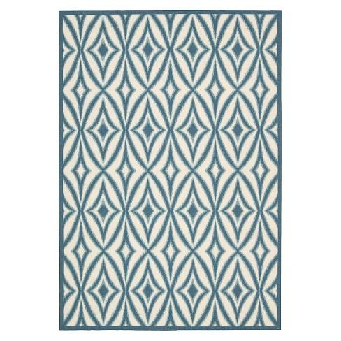 Waverly Tile Indoor Outdoor Rug Blue 5 X7 Target