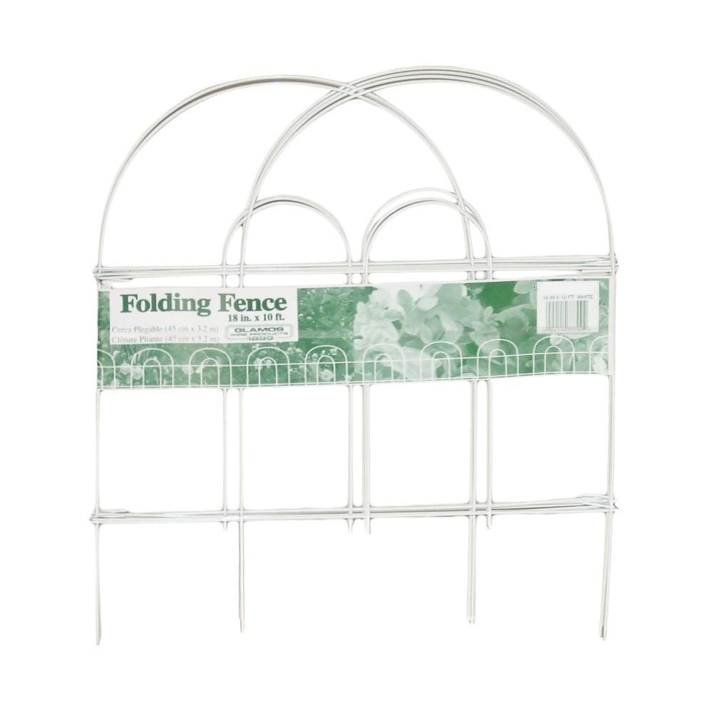 18 x 10' Garden Fence 12 pack - White - Glamos