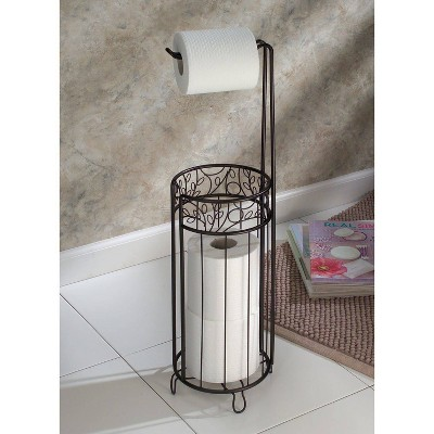 Twigz Ivy Scroll Roll Stand Plus Bronze - iDESIGN, Yellow