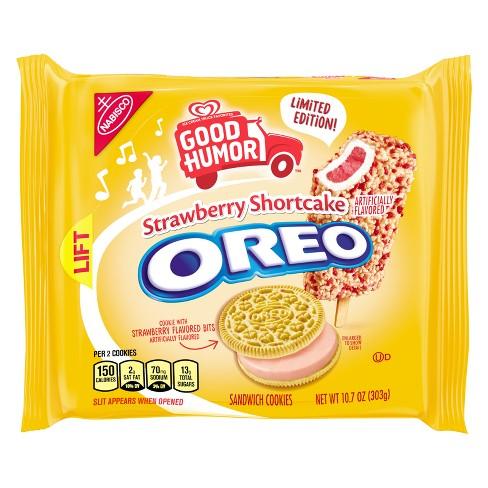Oreo Good Humor Strawberry Shortcake Sandwich Cookies - 10.7oz - image 1 of 4