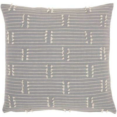 """18""""x18"""" Broken Stripes Square Throw Pillow Gray - Kathy Ireland Home"""