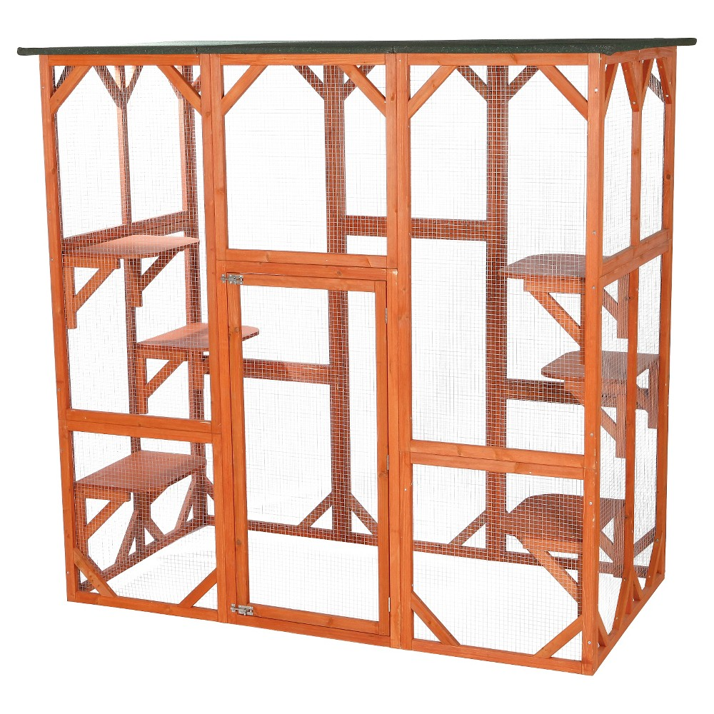Trixie Pet Products Wooden Outdoor Cat Sanctuary, Brown