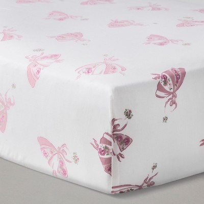 Nursery Pink Fitted Crib Sheet Ballerinas - Simply Shabby Chic®