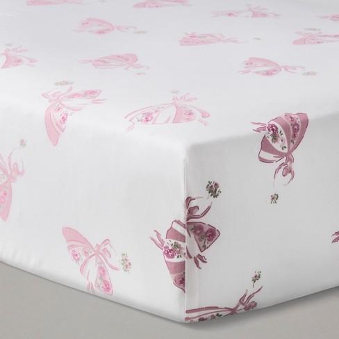 Nursery Pink Ed Crib Sheet