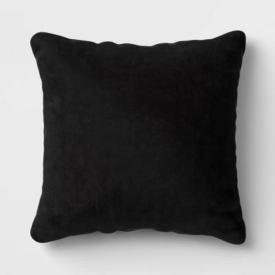 Square Velvet Pillow Black - Room Essentials™