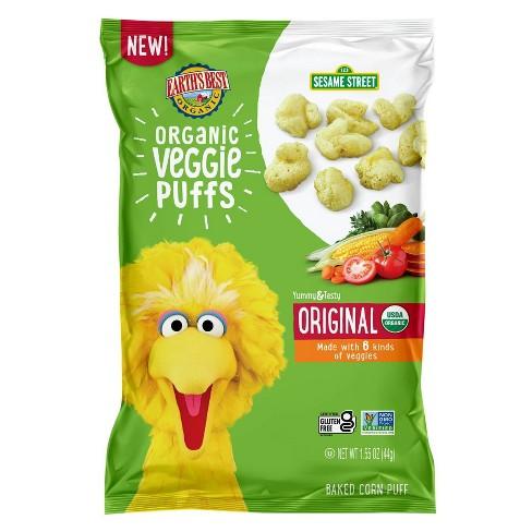 Earth's Best Sesame Street Organic Veggie Puffs Baby Snacks - 1.55oz - image 1 of 4