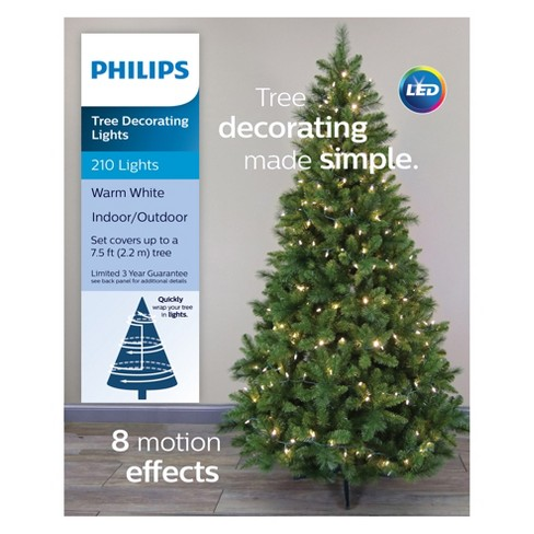 philips 210ct christmas led tree decorating lights warm white 8 function target