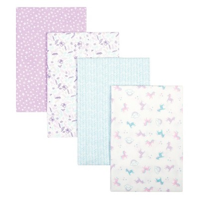 Trend Lab Flannel Receiving Blankets - Unicorn 4pk