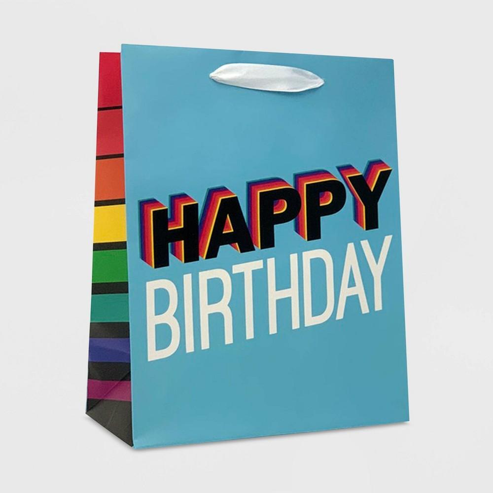 "Image of ""Basic """"Happy Birthday"""" Cub Boys Gift Bag - Spritz"""